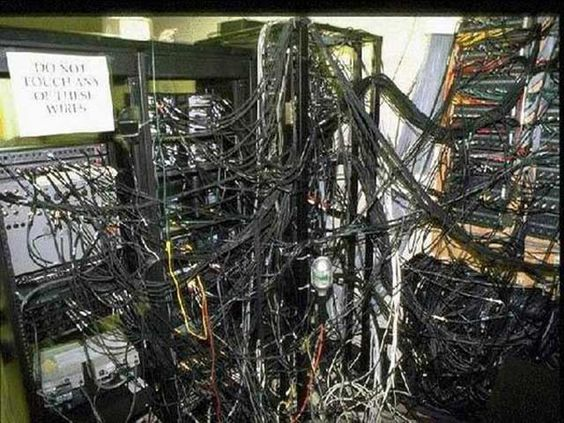 Cable Management Gone Wrong